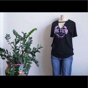 Pink Floyd v cut T-shirt